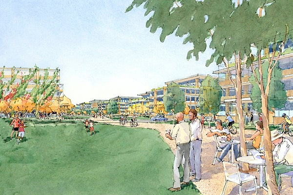 Artist's rendering of the proposed project