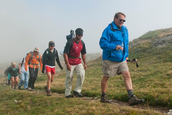 Dr. Patrick Hunt leads students on his Alpine Archaeology Expedition in 2009.