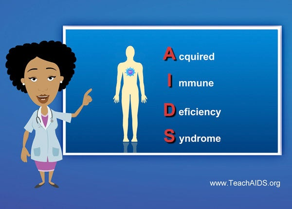 The Botswana female English version of TeachAIDS software features the voice and avatar of cultural icon and radio DJ Jazzelle Kebakile.