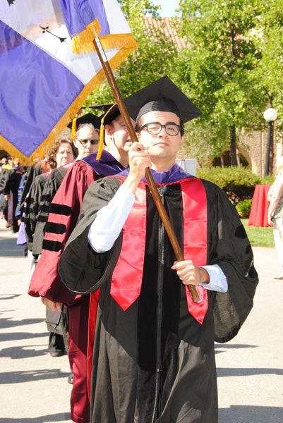 The start of the graduation procession for the Class of 2012 at Stanford Law School.