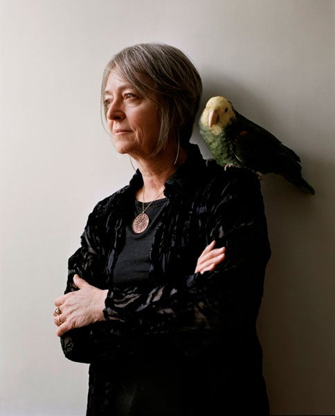 Joan La Barbara with bird