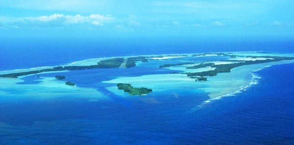 Aerial shot of Palmyra Atoll