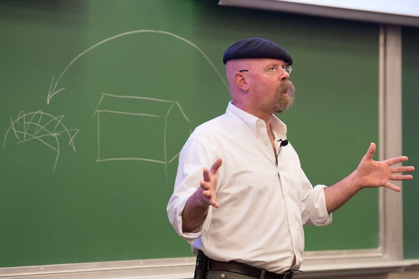 Jamie Hyneman, cohost of Discovery Channel's 'MythBusters' talks to Stanford class