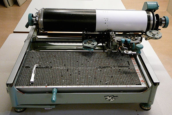 A Chinese typewriter