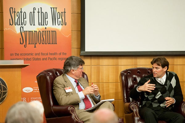 David Kennedy and Noah Diffenbaugh at the State of the West Symposium