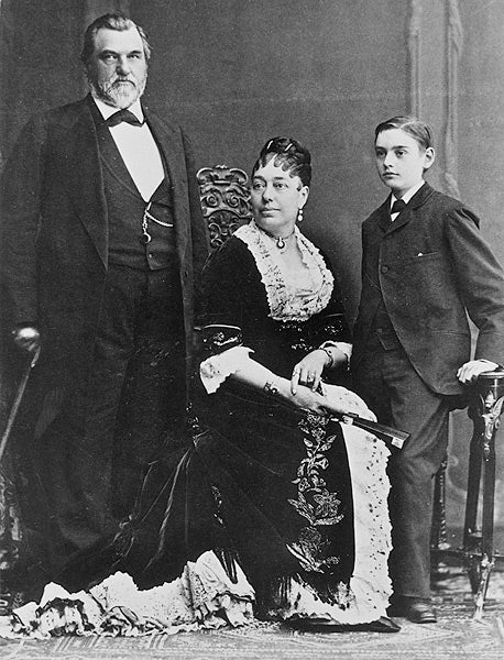 Portrait of the Stanfords, Leland, Jane and Leland Jr.