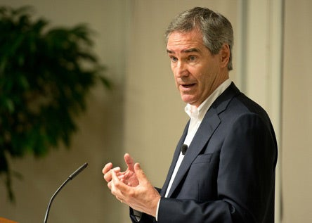 Michael Ignatieff at podium