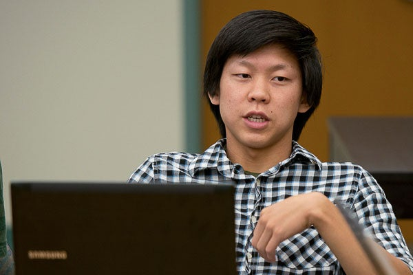 Undergraduate Kelvin Do spent the summer working on the project.