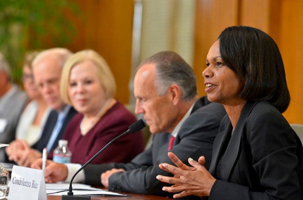 Condoleezza Rice speaking at Forum