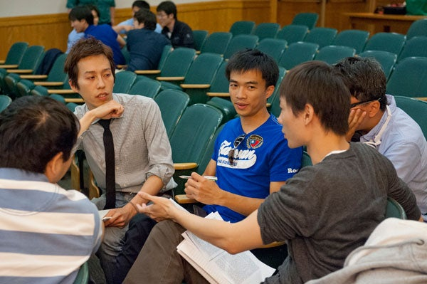 Taiwanese students participate in Stanford's English for Foreign Students program.