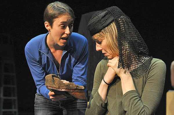Carolyn MacDonald, a Stanford doctoral student, and professional actor April Green in Bertolt Brecht's 'The Exception and the Rule.'