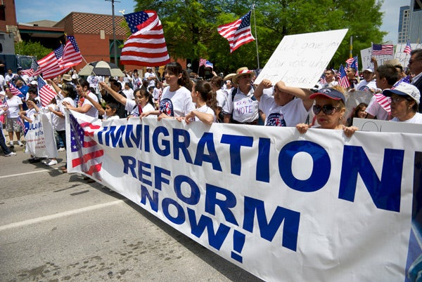 Image of immigration rally