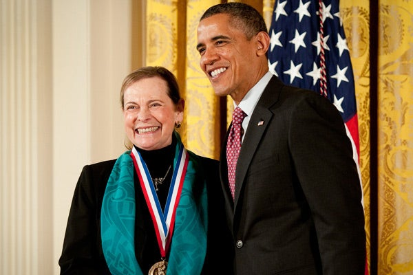 Lucy Shapiro with President Obama