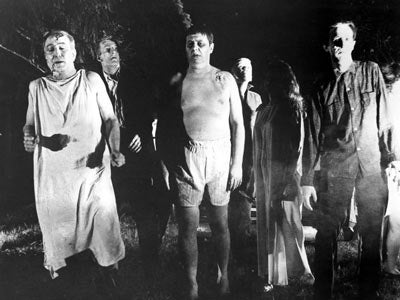 An image from George Romero's seminal 1968 film 'Night of the Living Dead.'
