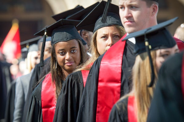 Students on Commencement Day