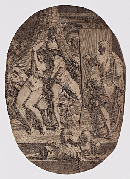 Apelles Painting Alexander and Campaspe by Leon Davent.