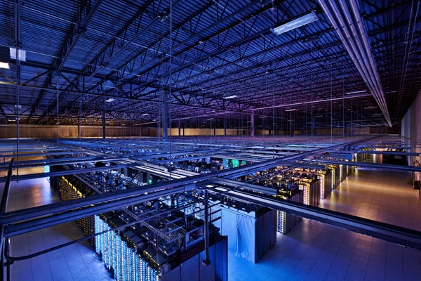 Google servers in Iowa