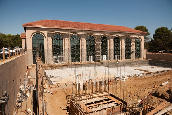 Arrillaga Outdoor Education and Recreation Center under construction