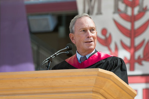 Michael Bloomberg at podium