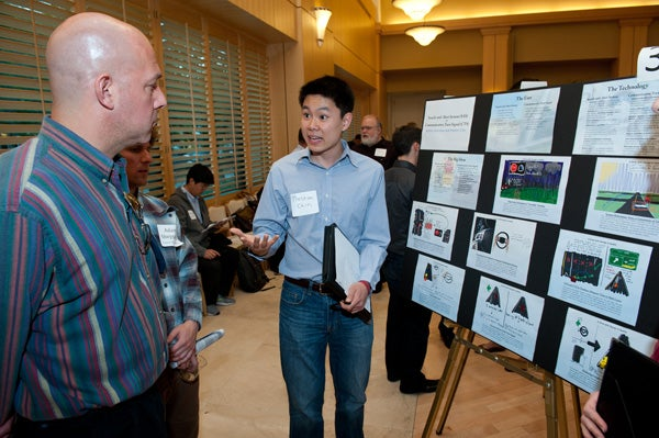 Preston Chin presents the Search/Alert Communicative Turn Signal system at the Big Idea Festival for Automotive Interfaces.