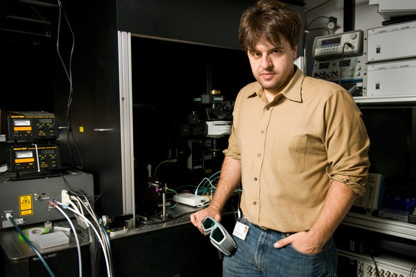 Karl Deisseroth in his lab