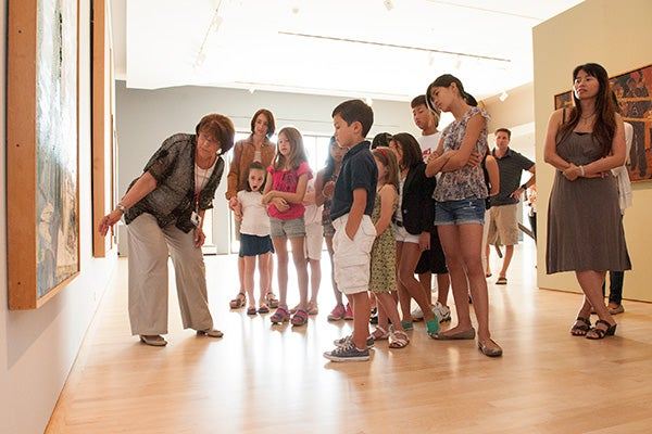 Cantor Arts Center docents lead kid-friendly tours as part of a new family program.