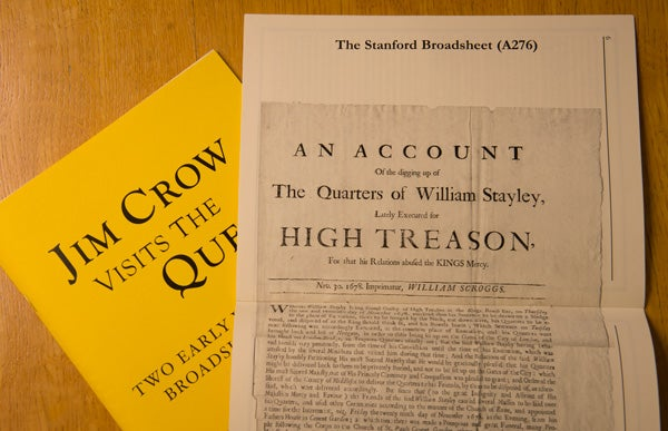 Student produce works of original scholarship in book form.  These two are from earlier 'History of the Book' classes.
