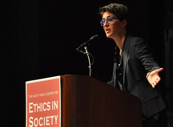 Rachel Maddow at podium
