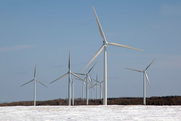 Wind turbines on the Tug Hill plateau in upstate New York.