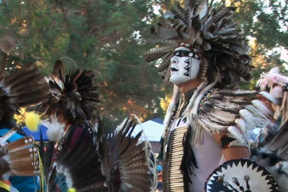 Dancers at the Stanford powwow / Photo: Kurt Hickman