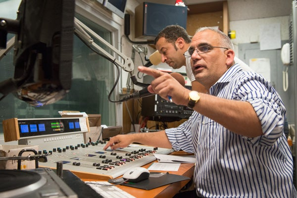 Ramzi Salti and Ahmad Qousi in the KZSU studio