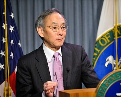 Steven Chu at podium