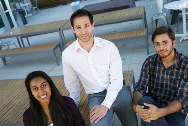 StartX management team: CPO Divya Nag, Founder and CEO Cameron Teitelman and CFO John Melas-Kyriazi.