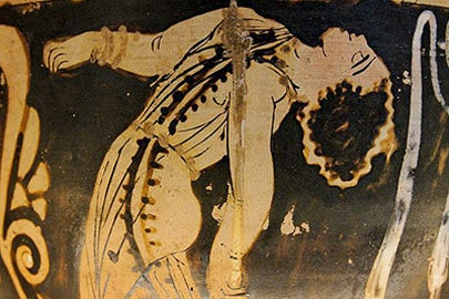 maenad on a vase / Wikimedia Commons