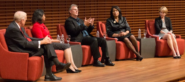 Panel discussing sustainability at the Academic Council