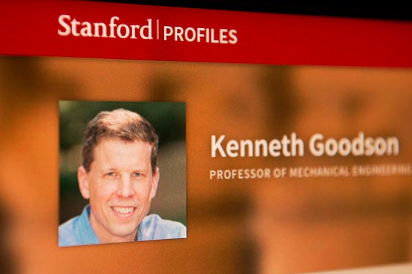 screenshot from Stanford Profiles site