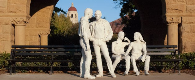 George Segal's 'Gay Liberation' sculpture at Stanford