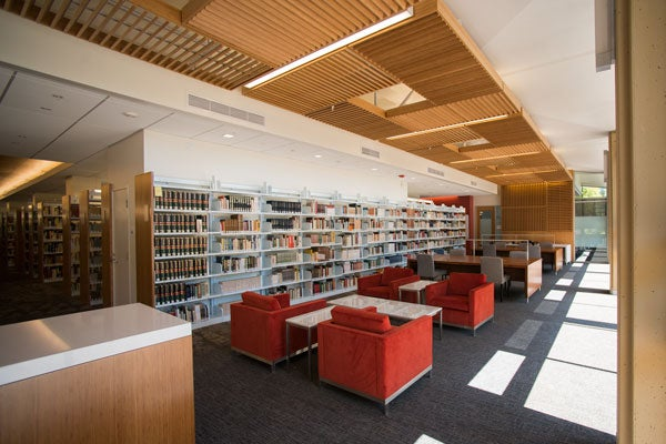 Lathrop Library reading room