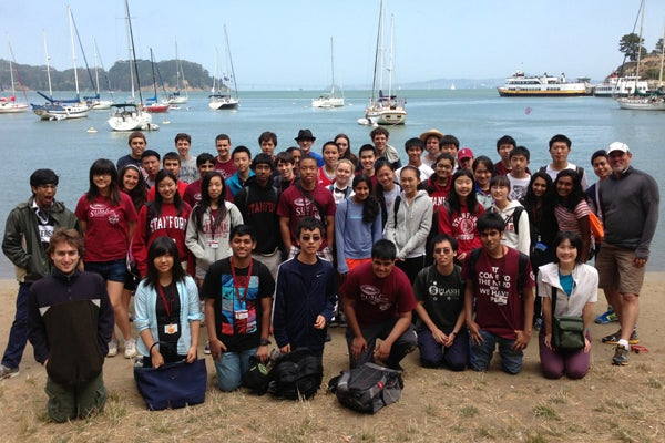 Summer math camp students on field trip