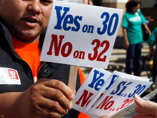 Proposition 30 supporters