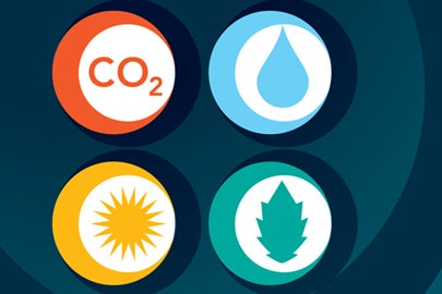climate change icons / KQED