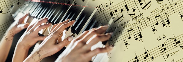 four-hand piano playing