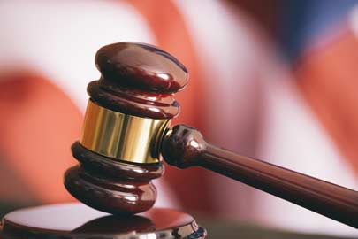 Closeup of a judge's gavel/Photo: Shutterstock