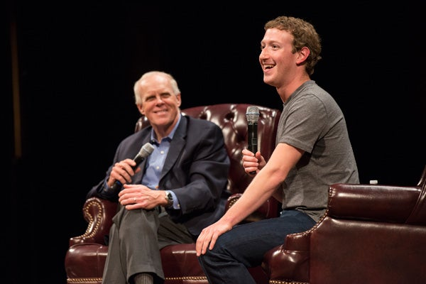 John Hennessy and Mark Zuckerberg
