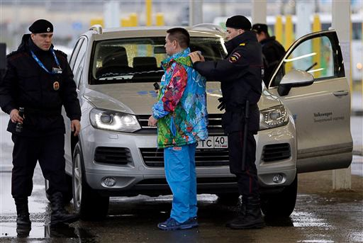 Russian police search driver, car in Sochi