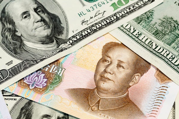 Chinese and U.S. currency