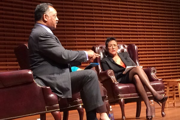 Jesse Jackson and Elaine Brown