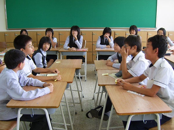 Korean children in classroom