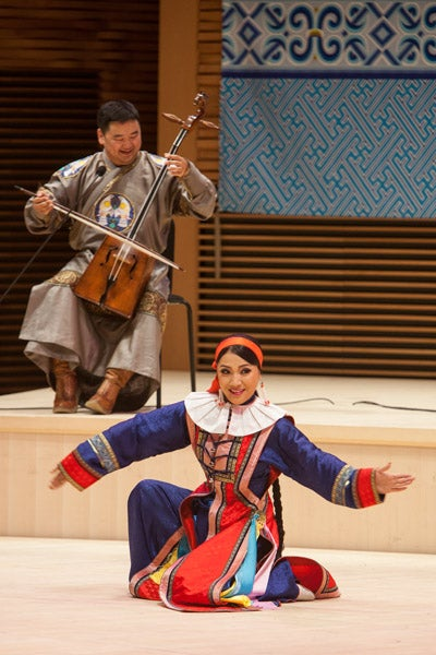 Mongolian musician and dancer