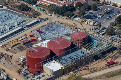Aerial view of the Central Energy Facility